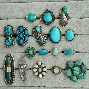 Vintage Sterling Silver Turquoise Rings